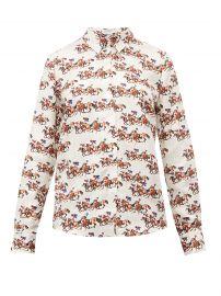 Henri horse-print silk-twill blouse at Matches