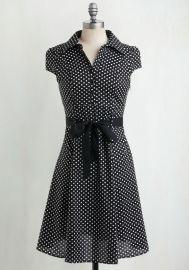 Hepcat Soda Fountain Dress in Black Licorice at ModCloth