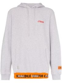 Heron Preston CTNMB print cotton hoodie CTNMB print cotton hoodie at Farfetch