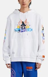 Heron Preston Folkloric-Wizard Cotton French Terry Hoodie at Barneys