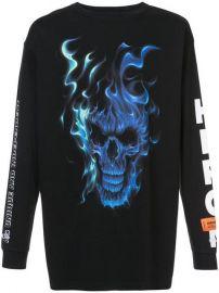 Heron Preston Skull Print Sweatshirt at Farfetch