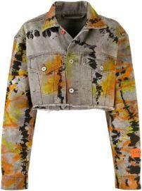 Heron Preston cropped denim jacket cropped denim jacket at Farfetch