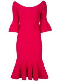 Herv   L  ger Off The Shoulder Braided Dress - Farfetch at Farfetch