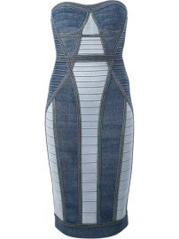 Hervand233 Land233ger Panelled Bandage Dress - Luisa World at Farfetch