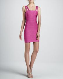 Herve Leger Double-Strap Bandage Dress  Caprice at Bergdorf Goodman