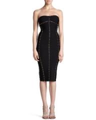Herve Leger Studded Strapless Dress at Neiman Marcus