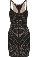 Herve Leger appliqued dress at Net A Porter