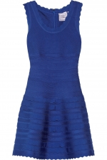 Herve Leger scalloped dress at Net A Porter