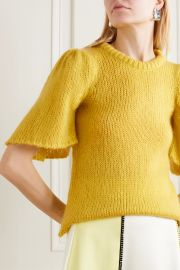 Hesper knitted sweater by Stine Goya at Net A Porter