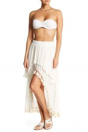 Hi-Lo Tiered Tassel Maxi Skirt at Nordstrom Rack
