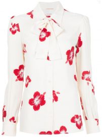 Hibiscus Floral Print Shirt by Saint Laurent at Farfetch