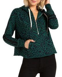Hickory Jaguar-Print Half-Zip Hooded Sweatshirt at Bloomingdales