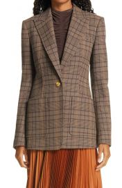Hicks Check Single Button Blazer at Nordstrom