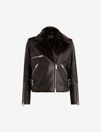 Higgens Leather Jacket at All Saints