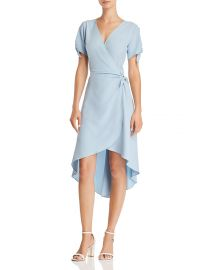High/Low Faux-Wrap Dress at Bloomingdales
