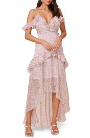High/Low Tiered Ruffle Maxi Dress at Nordstrom
