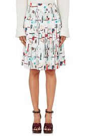 High Gloss Pleated Skirt by Opening Ceremony at Barneys
