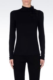 High Neck Sweater with Bows at Armani