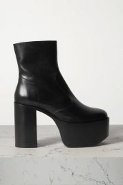 High Raid leather platform ankle boots at Net A Porter