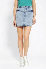 High Rise Acid Wash Denim Skirt by Silence and Noise at Urban Outfitters