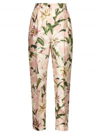 High-Rise Floral-Print Shantung Trousers by Dolce  Gabbana at Matches