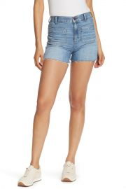 High Rise Patch Pocket Denim Shorts at Nordstrom Rack