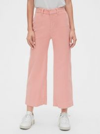 High Rise Wide Leg Crop Pants at Gap