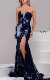 High Slit Sequin Dress by Jovani at Jovani