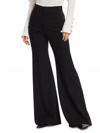 High Waist Flared Wool Pants at Saks Fifth Avenue