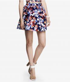 High Waist Floral Full Skirt at Express