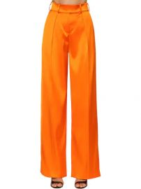 High Waist Stretch Satin Pants by Alexandre Vauthier at Luisaviaroma