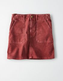 High-Waisted Corduroy A-Line Skirt at American Eagle