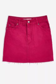 High Waisted Denim Skirt at Topshop