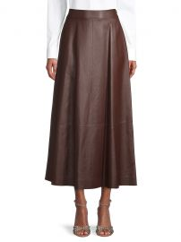 High-Waisted Leather Skirt at Saks Fifth Avenue