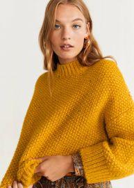 High collar sweater at Mango