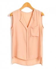 High low chiffon blouse at Chicnova