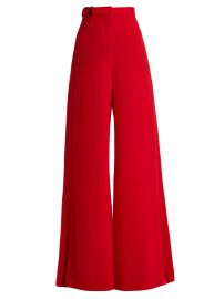 High-rise wool-crepe tailored trousers at Matches