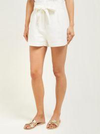 High-rise linen-blend shorts at Matches