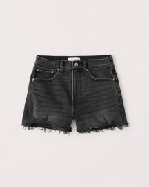 High rise mom shorts at Abercrombie