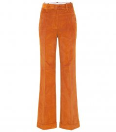 High-rise straight corduroy pants at Mytheresa