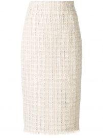 High waist pencil skirt by Alexander McQueen at Farfetch