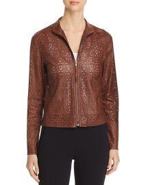 Highline Laser-Cut Leather Jacket at Bloomingdales