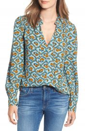 Hinge Tie Neck Blouse at Nordstrom