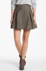 Hinge Metallic Tweed Skater Skirt at Nordstrom