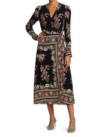 Hirzai Floral Wrap Midi Dress at Saks Fifth Avenue
