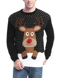 Holiday Reindeer Snowman Santa Snowflakes Sweater at Amazon