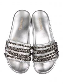 Hologram Logo Chain Slides by Chanel at The Real Real