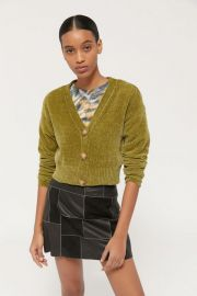 Honey Plush Cardigan by Urban Outfitters at Urban Outfitters