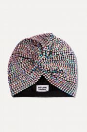 Honore crystal-embellished stretch-cotton turban at Net A Porter