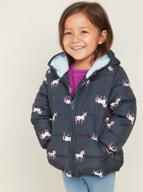 Hooded Frost-Free Puffer Jacket for Toddler Girls at Gap
